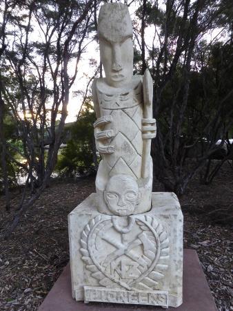 Government Gardens: Sulphur Lake Sculpture Trail ( Pioneer by Peter Akurangi )