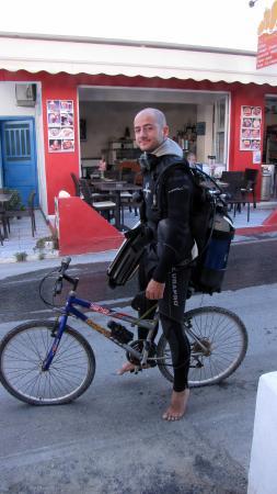 Naxos Town, Greece: bicycle