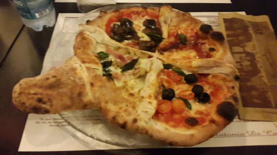 Pizza ricotta, cotto e melanzane - Picture of Pizzeria La Terrazza ...