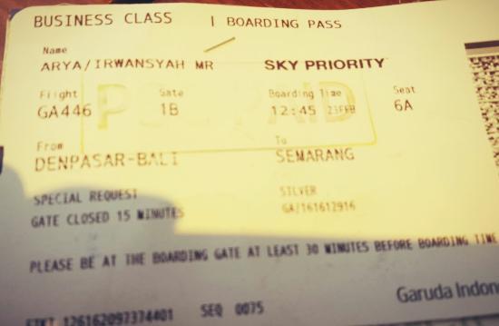 boarding pass picture of garuda indonesia tripadvisor rh tripadvisor ie