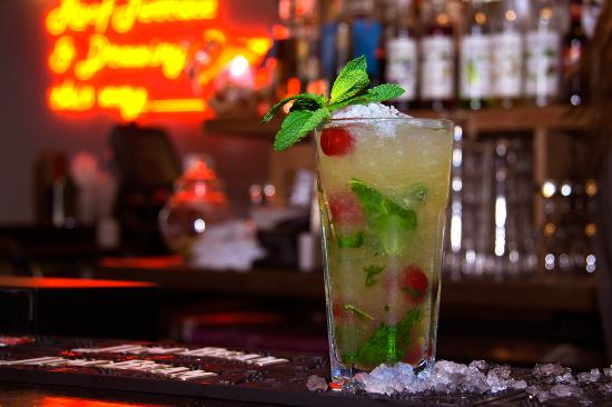 Big Chill House: Check out our wide range of cocktails including this Cherry Mojito