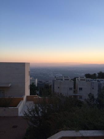 Haifa University: Dawn from the student dormitories looking toward Lebanon.