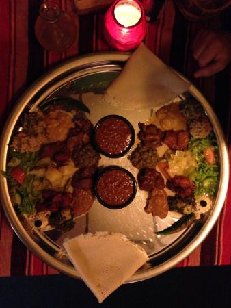 Eetcafe Ibis: Vegetarian Platter, it was bigger in real life! YUM