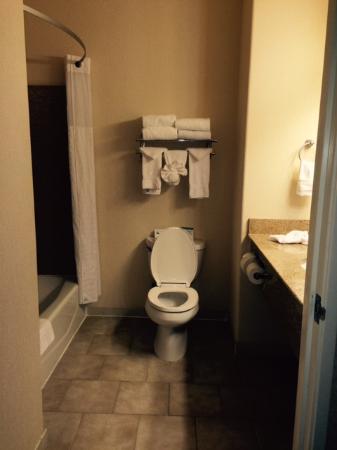 Comfort Inn & Suites Galt - Lodi North: Bathroom is squeaky clean.