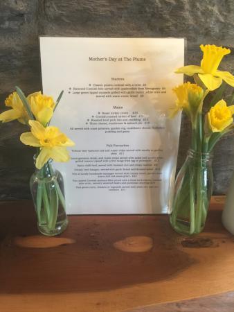 Portscatho, UK: Mother's Day 2016 Menu xx