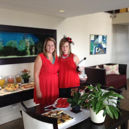 Atlantic House: The girls even went to town, providing a Valentines breakfast for all the guests