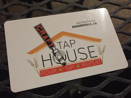 Beer card picture of craft tap house bakersfield tripadvisor craft tap house beer card reheart Images