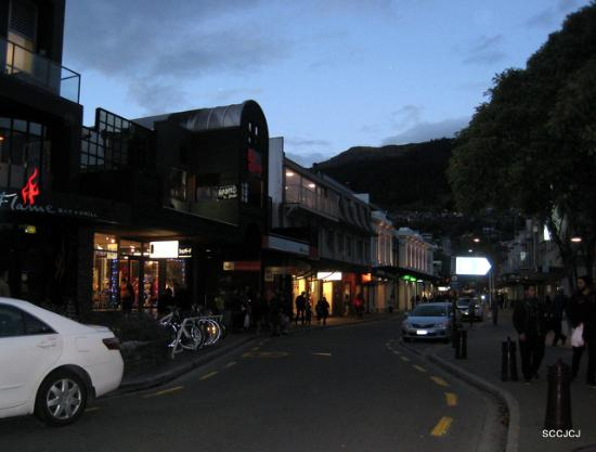 Queenstown Mall at night