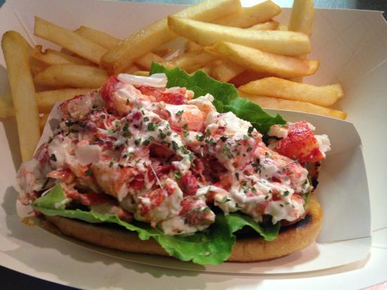 Buzzards Bay, MA: Toasted bun filled with lobster meat cooked and shucked up to 3 times daily