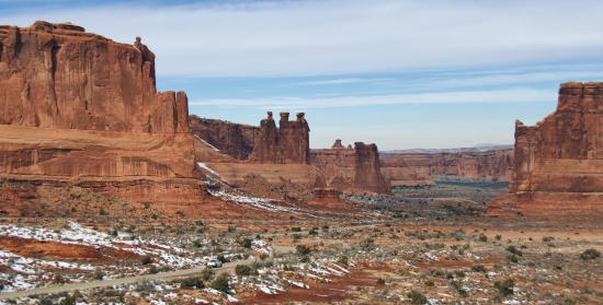 Image result for arches national park mountains