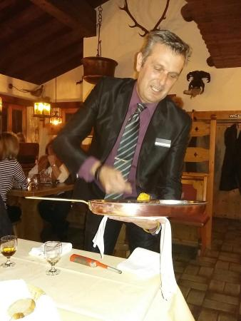 Alvaneu, Swiss: Super Essen und freundliche Bediehung durch Christian