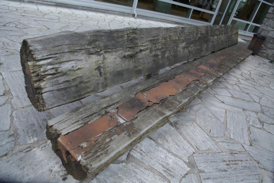 París, Francia: скамья из метасеквойи(девственные влжные леса умеренного климата Британской Колумбии) подарок Ка