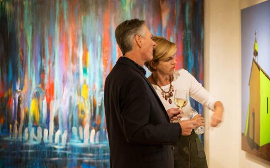 Mirada Fine Art Gallery: Admiring the contemporary artwork at Mirada Fine Art.