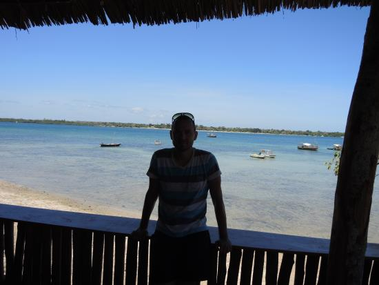 Shimoni, Kenia: view from restaurant
