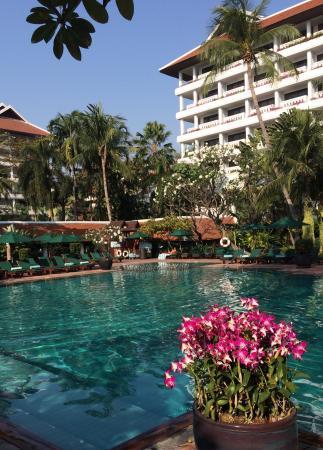Relaxing at Riverside Anantara