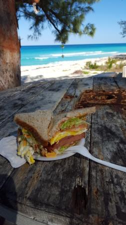Bimini: Egg and Ham Breakfast sandwich