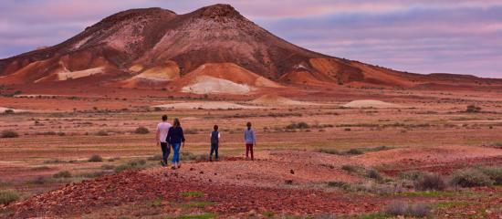 Coober Pedy, Australia: People at the Breakaways Conservation Park