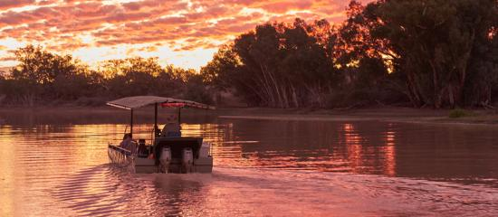 Coober Pedy, Australia: Innamincka River Cruise at Sunset