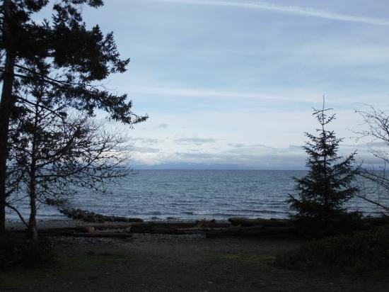 Courtenay, Kanada: VIEW OF STRAIT FROM PATH