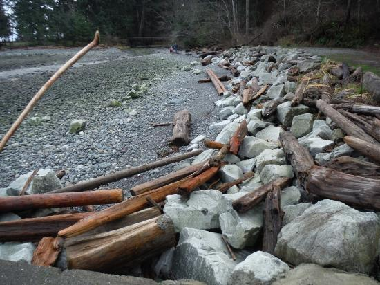 Courtenay, Canada : DRIFTWOOD MEETS ROCKWALL