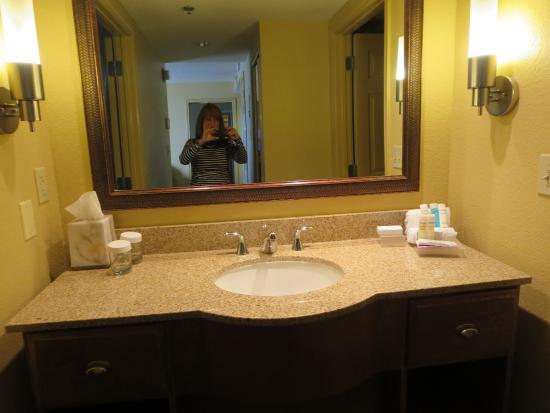 vanity in master bathroom with lots of counter space for toiletries rh tripadvisor com