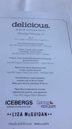 the menu - picture of icebergs dining room & bar, bondi - tripadvisor