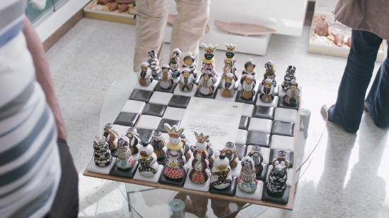 Slovenj Gradec, Eslovênia: Gingerbread chess that was given to Mr. Gari Kasparov.