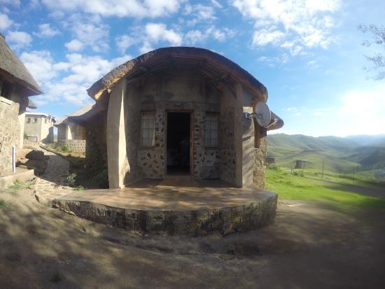 Mokhotlong, Lesotho: Die Hütte, in der wir untergebracht waren.