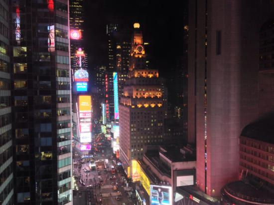 excellent view of time square from corner king room picture of rh tripadvisor com