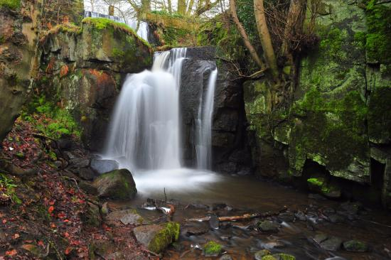 Matlock, UK: waterfalls at lumsdale by swift314