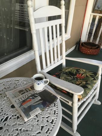 The Inn Around The Corner: Coffee On The Front Porch Each Morning!