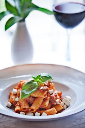 Come Prima Restaurante Italiano : Rigatoni con Ragu de Maiale di Alentejo