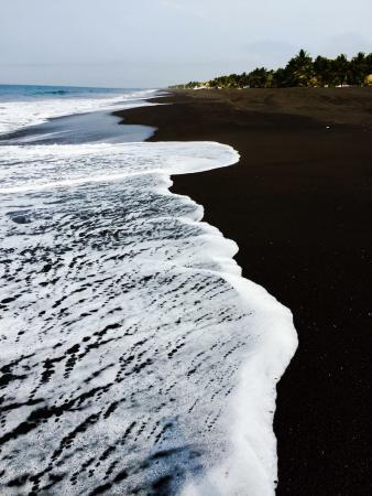 Black sand beaches, 1/2 block away from hotel.