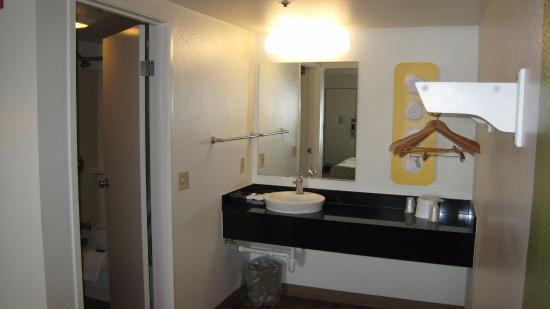 Motel 6 Ogden Riverdale: Revamped with modern sinks and towel holders!