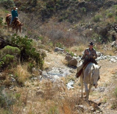 Elkhorn Ranch: Trail ride through the mountains.