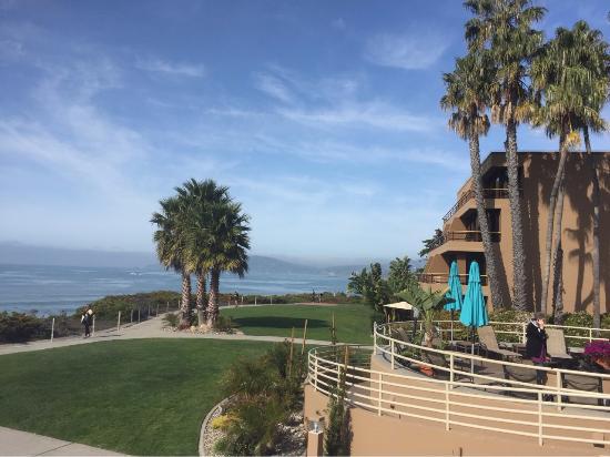 view from patio of the marisol bar restaurant beach is accessed rh tripadvisor com