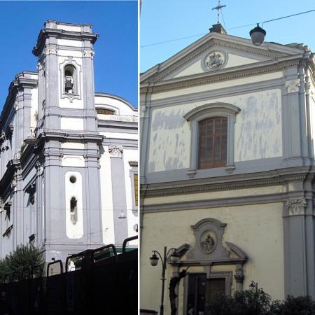 Collage Di Foto Il Campanile E La Facciata Esterna Della Chiesa Di