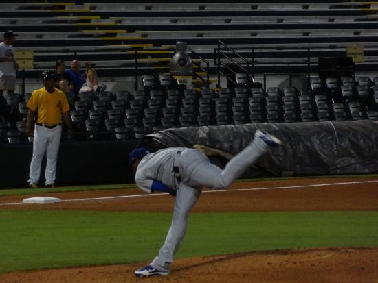 Bradenton, FL: pitchers get into wierd positions sometimes