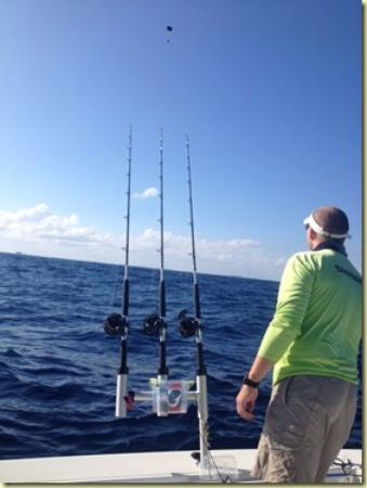 Setting up the kite rods picture of angler management for Deep sea fishing west palm beach