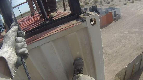 Tonopah, AZ: Rappelling from the 3 story tower