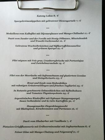 Speisekarte (Stand Mai 2015) - Bild von Münsters, Leipzig