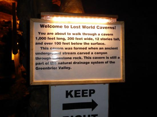 Cave Map Picture Of Lost World Caverns Lewisburg Tripadvisor