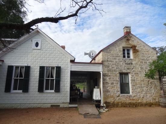 "The Sauer-Beckmann Farmstead Tours: The ""old"" and ""new"" structures"
