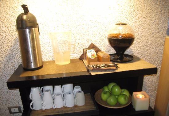 Aquadirose Wellness Care: чай, кофе, фрукты