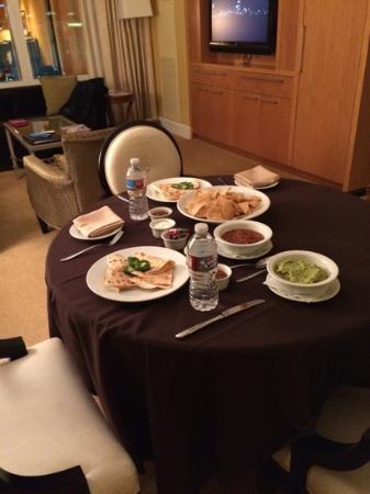 Trump International Hotel Las Vegas Room Service Set Up
