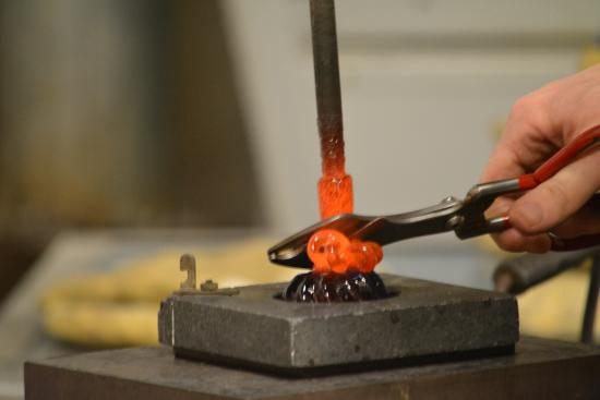The Glass Forge: Making the vine on the pumpkin!