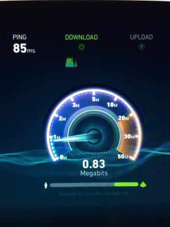 Hampton Inn Oklahoma City/Edmond: Slow unreliable WiFi