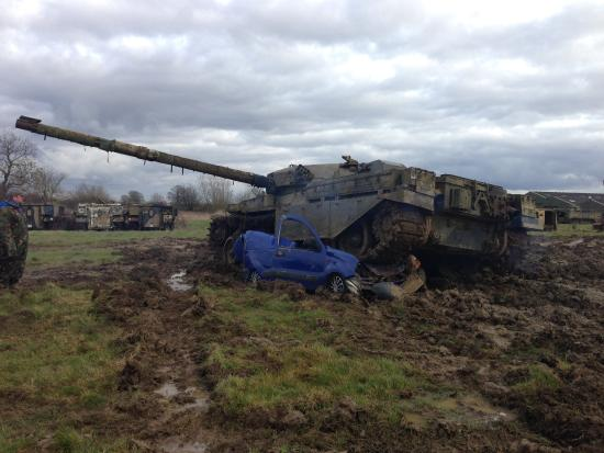 Helmdon, UK: It's not every day you get to crush a car.