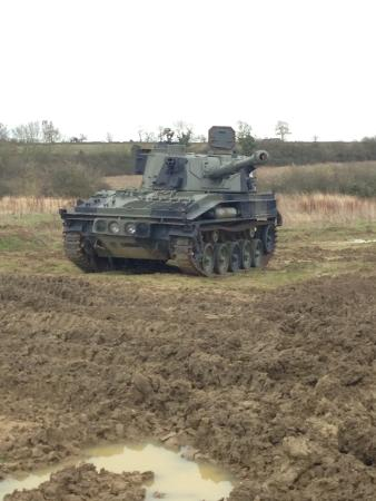 Helmdon, UK: Just one of the many tanks and vehicles there.