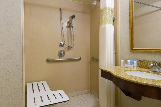 Hampton Inn and Suites Peoria at Grand Prairie: Roll-in Shower